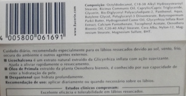 Eucerin Labios Ingredientes