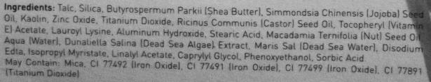 Ahava Po Compacto Ingredientes
